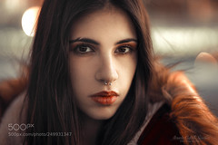 Eva A. (LMortgages158) Tags: fashionable beautiful people pretty long hair fashion model brown eyes attractive brunette portrait female mercedes castillo sanchez wbpa 85mm