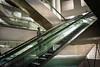 Paris (Ivan SGOBBA) Tags: paris escalators metro parismetro megalopole solitude futurisme couleurs colors composition parigi pariscouleurs