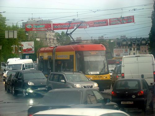 Трамвай и пробки ©  ayampolsky