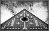 St. Lawrence Church, Vantaa (tap5aL) Tags: church bw architecture 1893 bricks window cross
