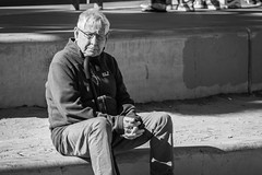 Venice Beach, California (paccode) Tags: solemn california d850 bored monochrome venicebeach street people sitting blackwhite tourist quiet serious candid posing losangeles unitedstates us