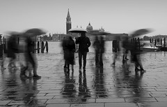 Venice - A Moment in Time IV (annemcgr) Tags: venice italy people street motion blur weather rain umbrella reflection