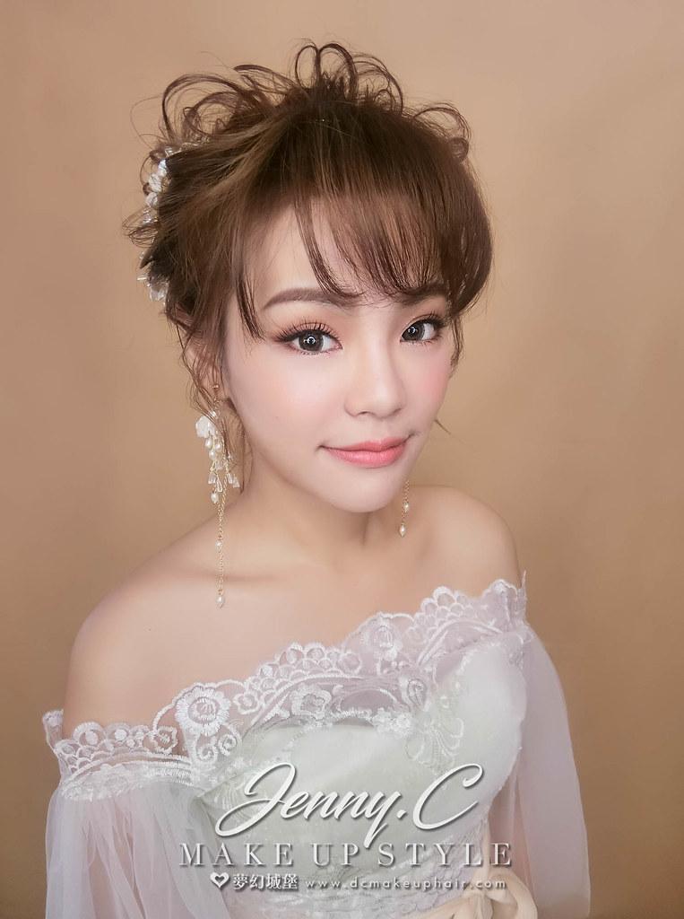 【新秘蓁妮】新娘造型創作 / 韓系抽絲盤髮