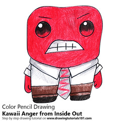 Kawaii Anger from Inside Out (drawingtutorials101.com) Tags: kawaii anger inside out characters character how draw color pencil pencils chibi drawings drawing with coloring speed