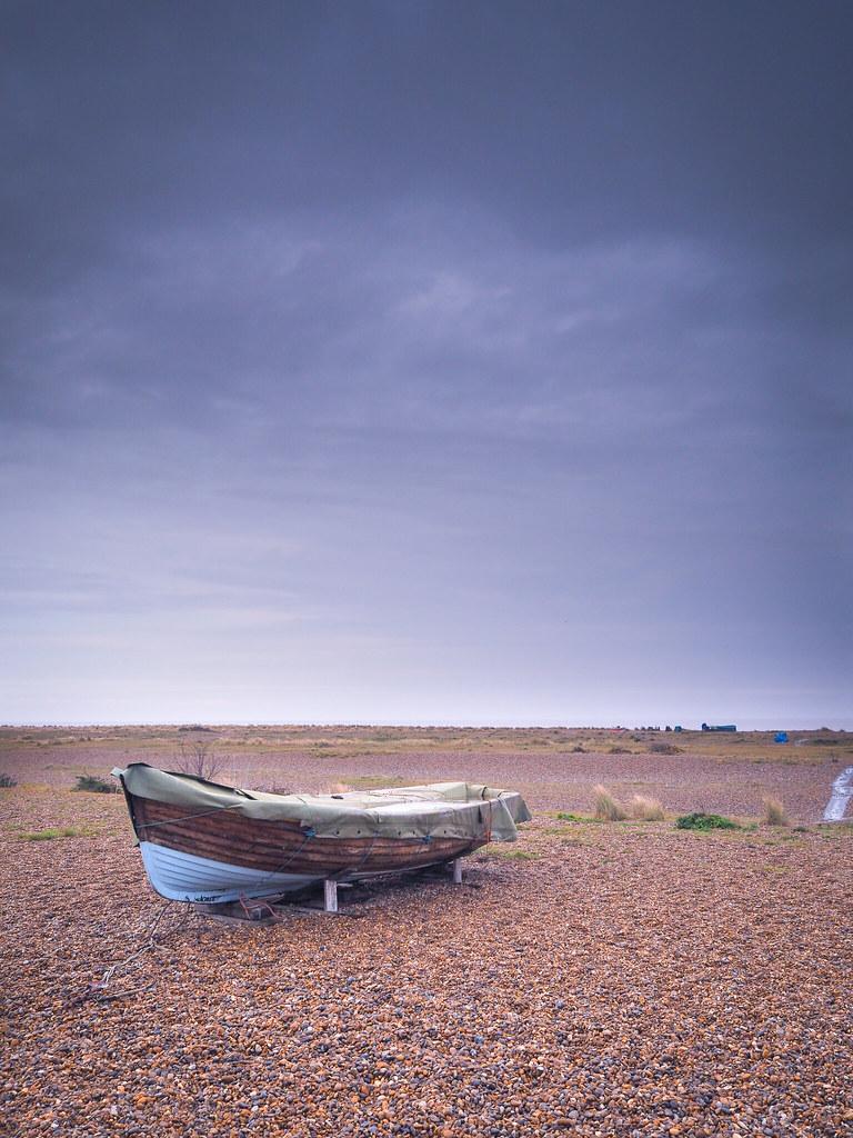 Beached boat at Kessingland.