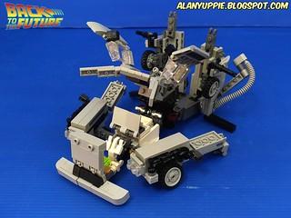 LEGO Transformer Delorean Time Machine from Back to the Future