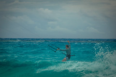 Andrew enjoying the swell and waves in the Bahamas.