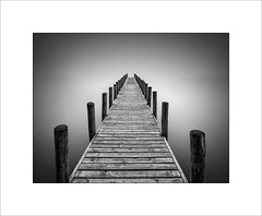 The Jetty (tkimages2011) Tags: old jetty lake coniston lakedistrict wood sky minimalist mono monochrome arty creative symmetry landscape outdoors outside le longexposure 10stopfilter perspective vanishingpoint vertical horizontal