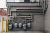 Pipe dreams (meezoid) Tags: network pipework utilities walls geometry lines pipe gas main pipes maze mario meter urban city kelowna bc britishcolumbia alleyway industrial canada travel c0u8