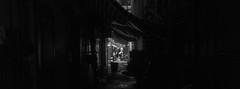 S I D E . B Y . S I D E (Panda1339) Tags: 28mm leicaq hk summiluxq 香港 hongkong streetphotography monochrome yaumatei night 油麻地 6524 xpan crop