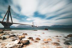 Rio-Antirio Bridge (George_T._) Tags: noon rocks water sea bridge greece fx 1530 tamron d750 nikon day long exposure