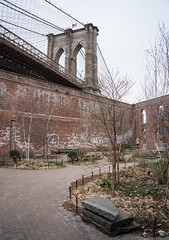 Brooklyn Bridge from DUMBO, Brooklyn (ChrisGoldNY) Tags: chrisgoldphoto chrisgoldny chrisgoldberg sonyalpha sonya7rii sonyimages sony newyork nyc newyorkcity albumcover bookcover brooklynbridge bridges bricks brick walls dumbo brooklyn bk overcast cloudy