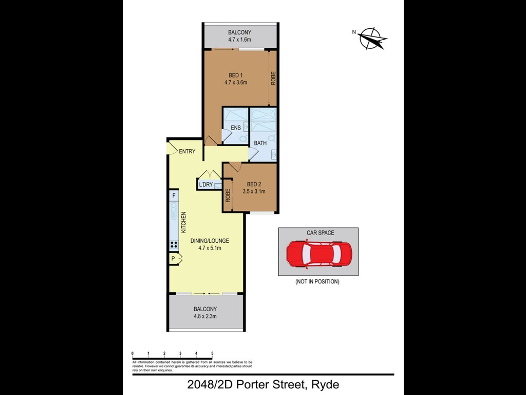Property report of 2048/2D Porter Street, Ryde NSW 2112
