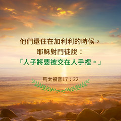 圣经金句-基督被交在人手里 (追逐晨星) Tags: 金句 金句卡片 人子