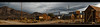 Goldpoint Pano (Whitney Lake) Tags: shacks goldenhour twilight pano historic abandoned decay deserted nevada goldpoint ghosttown