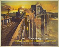 Castle In The Air (Feversham Media) Tags: terencecuneo royalalbertbridge saltash cornwall britishrailways railwayposters