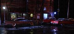Downtown Night Raining (gpholtz) Tags: diorama miniatures 118 diecast
