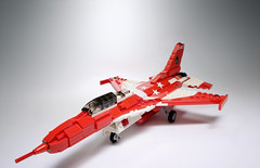 RSAF F-16 Black Knights (VisualJournalist) Tags: winner rsaf republic singapore air force lego moc mini aircraft airplane f16 black knights red white