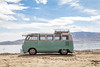 Honu Bus (Eric Arnold Photography) Tags: vw volkswagen bus van transporter deluxe bulli ragtop 21window 21 split splitty safari teal blue beach shore lake water sky clouds americanfork american fork utah ut magazine feature canon 80d canon80d photoshoot shoot