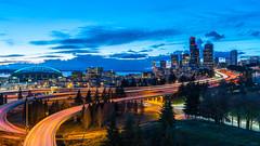 Seattle Skyline (Andre C's) Tags: seattle skyline long exposure freeway pnw washington centurylink lights city downtown