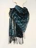 "Wool scarf ""Mountain brook"" (arireven) Tags: wool scarf shibori green blue handdyed"