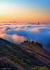 In The Clouds 2 (Joseph Greco) Tags: goldengatebridge sanfrancisco fog marin headlands marinheadlands vertical dawn morning warm