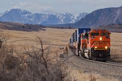 BNSF 8515 Greenland 10 Mar 18 (AK Ween) Tags: bnsf bnsf8515 emd sd70ace greenland colorado jointline pikespeak rampartrange greenlandopenspace train railroad