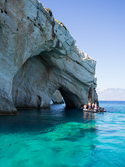 Blue caves (tanya.mesch) Tags: vacation zakhyntos 2017 greece sea seaside beautiful places island people nature bluewater waves caves plants boats turtles