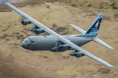 RAF C-130J 100 year special tail ZH866 (Tom Dean.) Tags: c130j lfa7 march 2018 zh866 raf exit machloop hercules wales