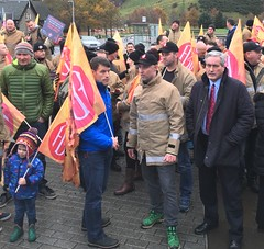 Supporting FBU demo at Parliament
