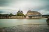 Paris by the Seine (MF[FR]) Tags: paris notredame france cathédrale cathedral seine river fleuve bridge pont long exposure pose longue samsung nx1 lee filters super stopper nuage clouds sky ciel