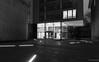 Volkshochschule Essen (frankdorgathen) Tags: facade glass architecture building urban town city electricity light dark wideangle perspective blackandwhite monochrome ruhrpott ruhrgebiet essen volkshochschule