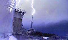 Impact (Pierre-Paul Feyte) Tags: antenne antenna lightning éclair foudre orage cglightning picdumidi nuit night pyrénées pyrenees