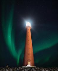 69 degrees north (Jay Daley) Tags: sonya7r2 sonyalpha longexposure nightphotography night lighthouse auroraborealis aurora norway