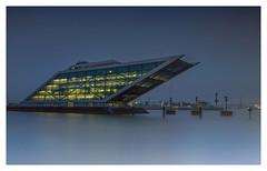 .........Blue. (fotoerdmann) Tags: lightroom architektur elbe docklandgermany deutschland bllue blaue ndfilter nightshot longexposurelandscape langzeitbelichtung fotoerdmann canon6dmark2