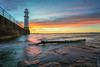 Sunset over Newhaven Lighthouse (MilesGrayPhotography (AnimalsBeforeHumans)) Tags: 1635 fe1635mm sonyfe1635mmf4zaoss architecture auldreekie a7ii britain beach city cityscape dusk edinburgh europe evening fe f4 firthofforth glow golden goldenhour historic haze harbour iconic ilce7m2 landscape lens longexposure leith le landscapephotography lighthouse nd newhaven newhavenharbour newhavenlighthouse outdoors oss ocean photography tranquil reflections rocks clouds scotland sky scenic skyline sunset sunlight sunshine sonya7ii sony spring scottish scottishlandscapephotography sonyflickraward town twilight uk unitedkingdom village zeiss sea seascape
