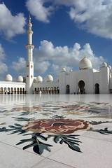 Sheik Zayed Grand Mosque (geneward2) Tags: abu dhabi mosque zayed sheik inlay white islam minaret architecture