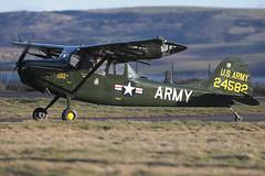 Cessna O-1E Bird Dog 58-24582 (G-VDOG) James Watt (Mark McEwan) Tags: cessna o1e birddog cessna305c 24582 usarmy gvdog dundee dundeeairport warbird vietnam 73rdreconairplaneco nhatrang unitedstatesarmy aviation aircraft airplane skywatchcivilairpatrol