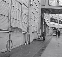 "Longing? (Xsbmrnr (Please read profile before ""following"") Tags: street streetphotography streetpeople blackandwhite bandw hamilton hamiltonontario hamont trix trix400 olympusom1 olympus om1 35mm 35mmfilm lines angles urban urbanphotography"