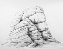 Rocks - Study No 2 (Marcos Telias) Tags: roca piedras rock formation formación rocosa dibujo sketch boceto drawing art artist chile chilean