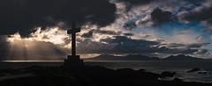 Ynys Llanddwyn (Peter Quinn1) Tags: easter goodfriday crucifix wales ynysllanddwyn anglesey crepuscularrays lleynpeninsula sunburst cross cloudscape