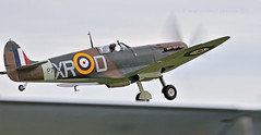Up on a wing and a prayer... (Ian A Photography) Tags: aeroplanes aircraft airshow aviation battleofbritain duxford duxfordlegends fighters flyinglegends historicaircraft nikon planes spitfire supermarine vickerssupermarine warbirds warplanes