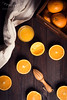 Orange still life (Ramón Antiñolo) Tags: orange citrus ripe vitamin breakfast food organic vegetarian cottage vintage retro still life lifestile tradicional kitchen cozy flat lay overhead view top healthy wooden dishcloth napkin cotton cloth fabric squeezer box
