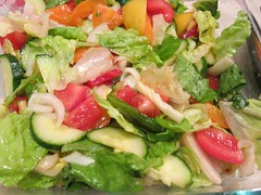 One Photo a Day Colour - Romaine, Tomatoes, Onion, Pepper (Pushapoze (NMP)) Tags: salad first vorspeise