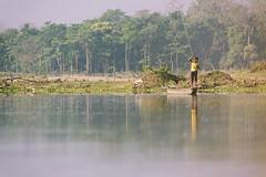 0720 Narayani River Transport (Hrvoje Simich - gaZZda) Tags: boat transport boatman outdoors landscape river yellow narayani chitwan nepal asia nikon nikond750 sigma150500563 gazzda hrvojesimich