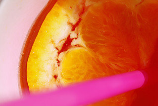 Yellow, orange, pink. A cool drink warm as a kiss from the sun.
