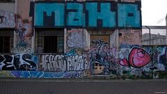 IMGP9432 Abandoned Railway offices (Claudio e Lucia Images around the world) Tags: milano streetart martesana graffiti murales coloredwalls coloreddoors turtle paintings murals pentax pentaxk3ii sigma sigma1020 writing muro strada tofane viatofane navigliomartesana fish happyfish coloredfish viatirano erba albero