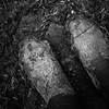 Square (Pittypomm) Tags: 2018p52 week15 square monochrome wellies muddy wellington boots paving slab stone mud grass dirt