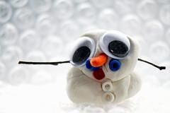 Farewell Mr Snowman (arcticbramble) Tags: lumiukko snowman valkoinen white hamahelmet hamabeads lumi snow talvi winter
