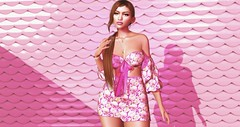 | Bright Bloom | (Xaqueline) Tags: sl secondlife avatar virtual fashion blog fuchsia pink bright bloom spring floral ponytail springfling c88 collabor88 weekendruiner egozy belleza catwa uma moncheri littlebones slhairstyle